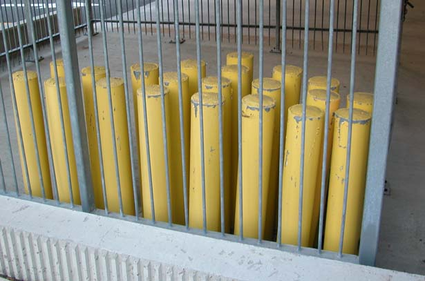 bollards against bars