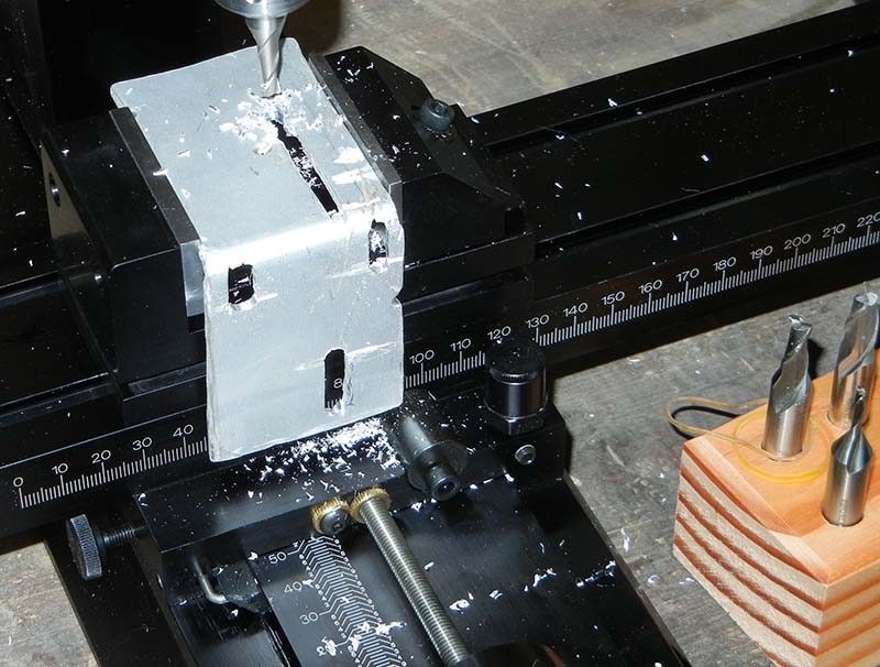 mounting bracket on milling machine