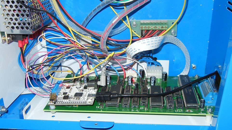 Controller installed, power LEDs lit