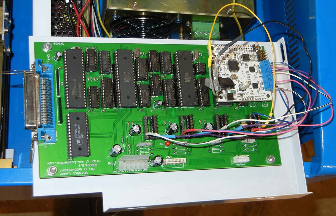 controller wired to EiBot board