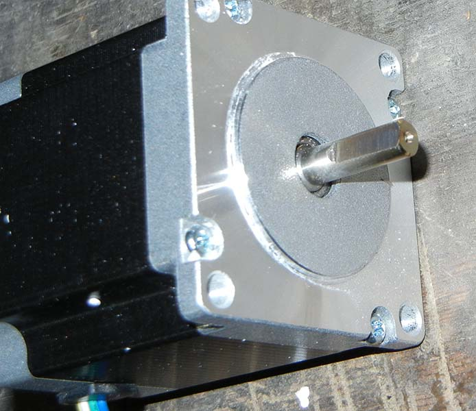 stepper motor with flat ground on shaft